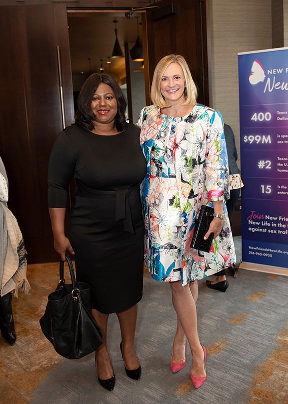 Dee Brown and Jennifer Sampson