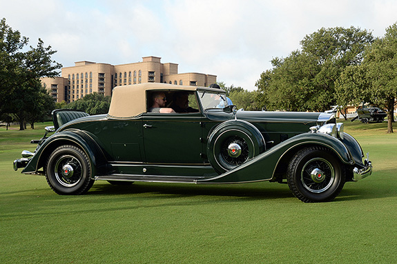 1st in Class - American Vintage: Thomas Wilcox, 1934 Packard 1104 Coupe Roadster