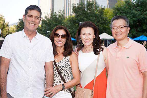 Dr. Alexandre Carvalho and Maria Elisa Carvalho with Cyntia and Lisun Kung