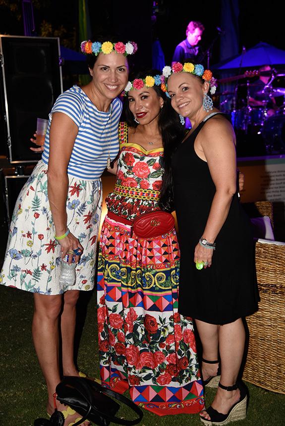 Kim Demetriou, Alma Nachawati, and Mary Debus