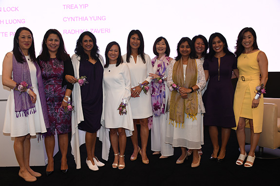 Founding members from left to right:  Cynthia Yung, Charmaine Tang, Gowri Sharma, Thear Suzuki, Caren Lock, Lynette Payne, Sejal Desai, Mylinh Luong, Kim Cummings, and Arang Cistulli