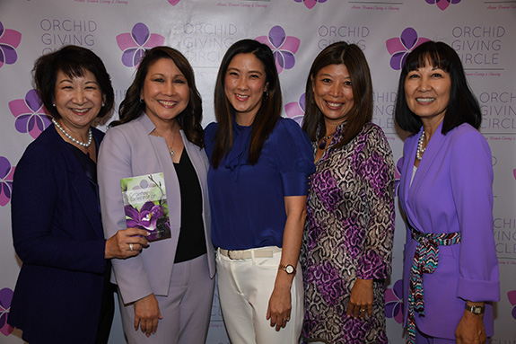 Tracey Doi, Karen Ideno, Anna Hung, Colleen Bloch, and Bonnie Clinton