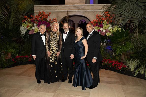 Charles and Pat McEvoy (2019 Ball Chairman), Morgan Malone, Marianne and Kory Lynn