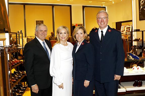 Greg and Kim Hext with Major Barbara Rich and Major Jonathan Rich