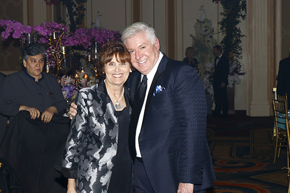 Pam McCallum and Ball Designer Tom Addis