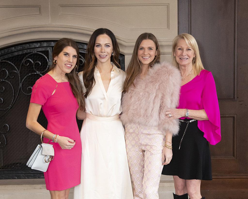Christina Dabney, Love Luncheon Featured Speaker Barbara Pierce Bush, Kate Dabney, and Shelby Dabney