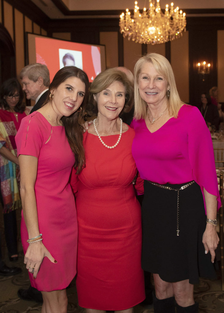Christina Dabney, Laura Bush, and Shelby Dabney