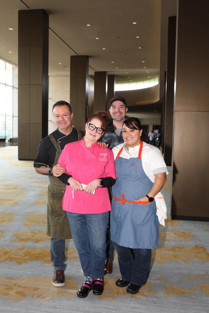 Chefs Abraham Salum, Janice Provost, Omar Flores, and Anastacia Quinones