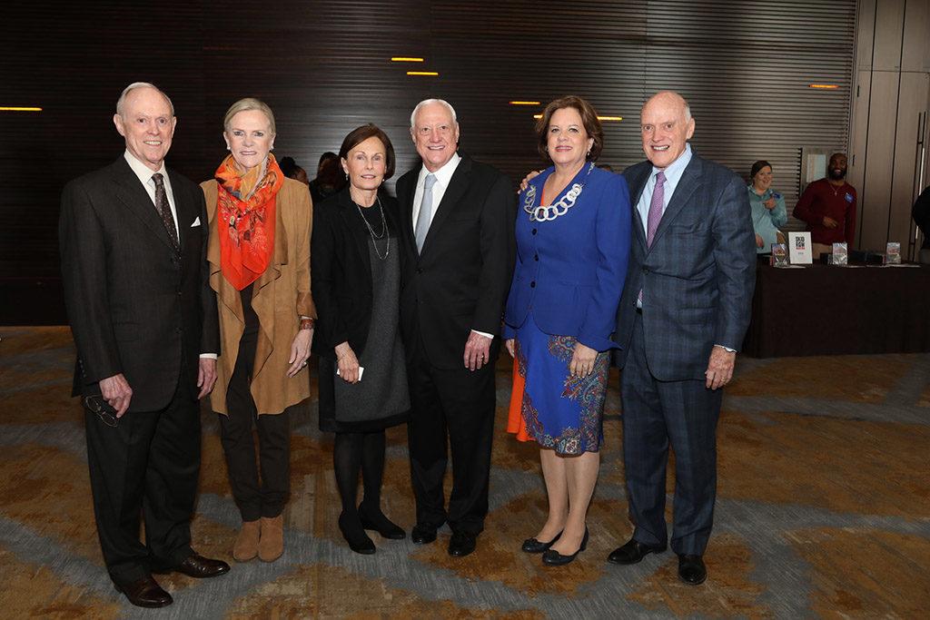 Howard and Fanchon Hallam, Sara and Robert Hallam, and Ann and John C. Hallam