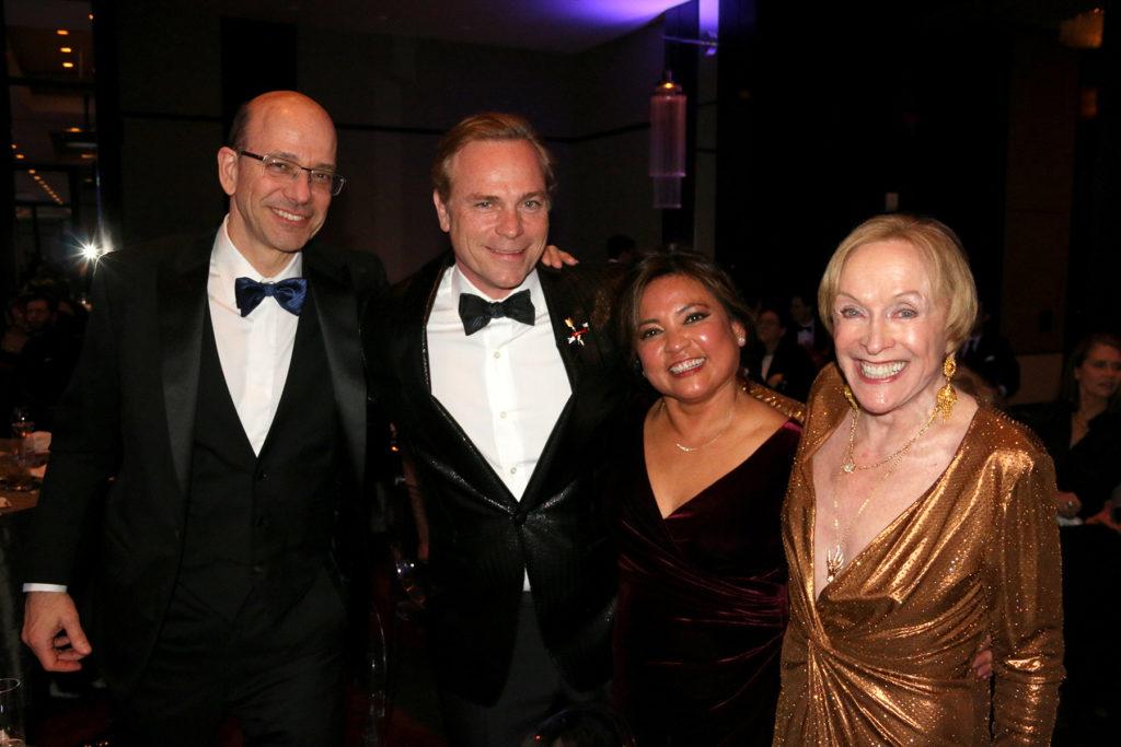 John Clendening, Jean-Charles Boisset, Hazel Clendening, and Laree Hulshoff