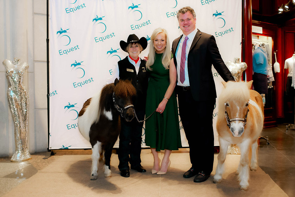 Linda Robinson with Katherine and Austin Wyker