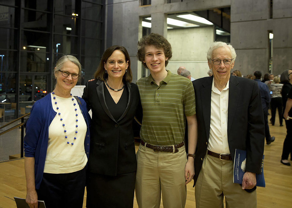 Gretchen Davies, Concert for Kindness Co-Founder Erin Hannigan, Peter and Doug Davies