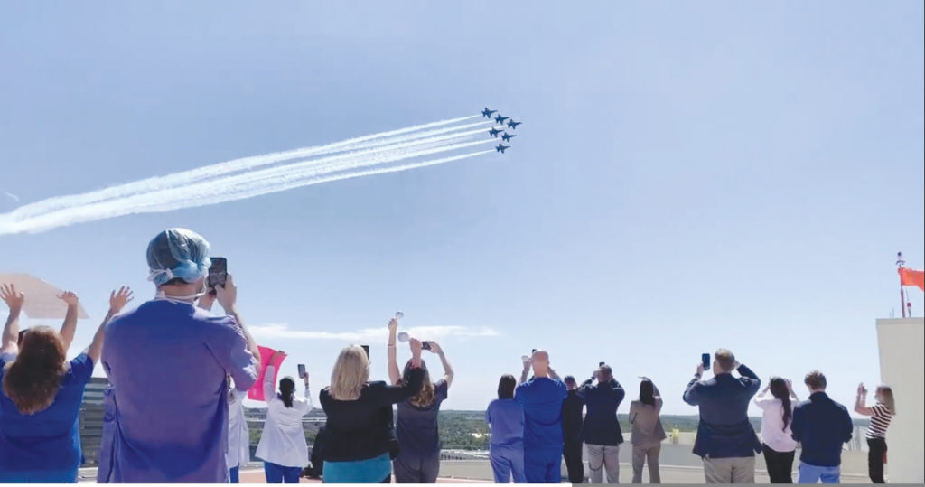 The U.S. Navy's Blue Angels put on a show May 6 over Dallas skies. (PHOTO: COURTESY MEDICAL CITY)