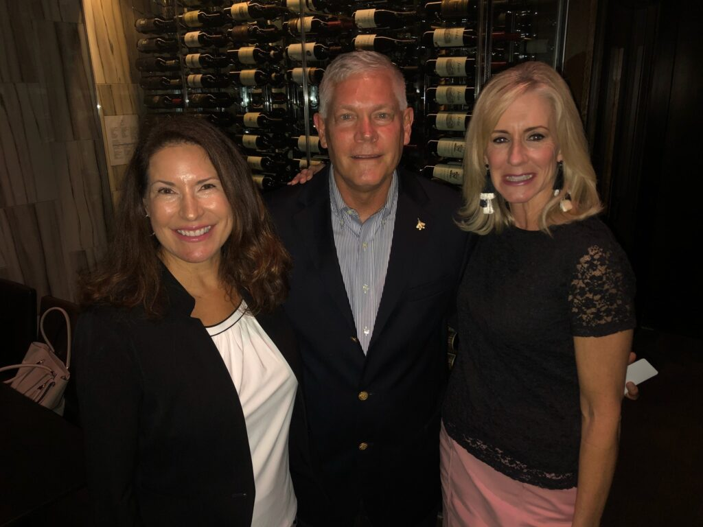 Denise Lyman and Baker introduced then U.S. Congressman Pete Sessions in 2018. (