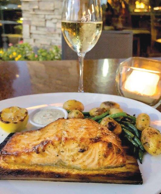 Seasons 52: Cedar Plank Roasted Salmon