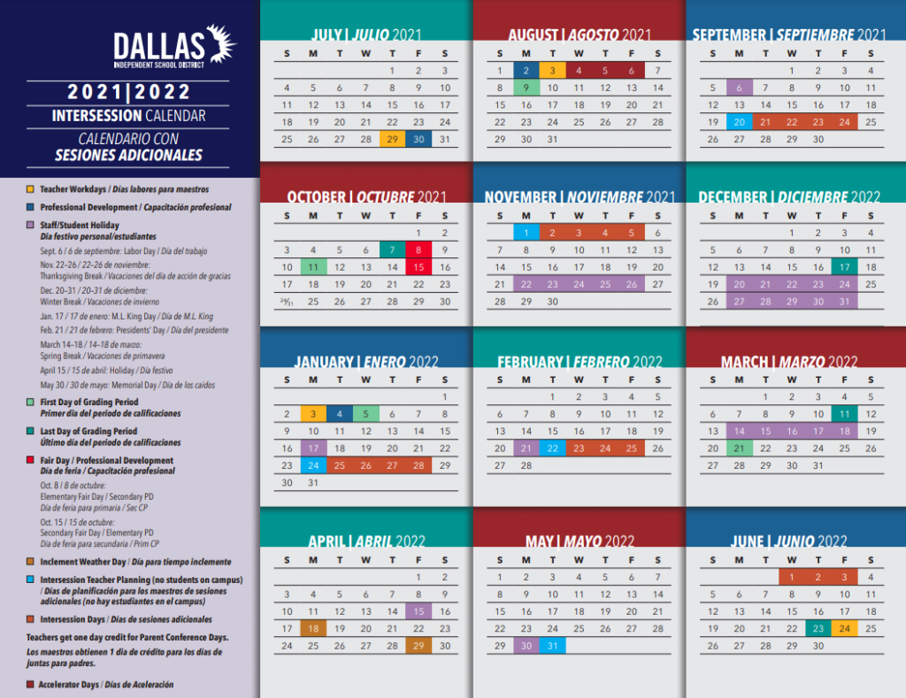 Dallas Isd Calendar 2022.Get Ready To Plan Next Year Dallas Isd Calendars Are Out People Newspapers